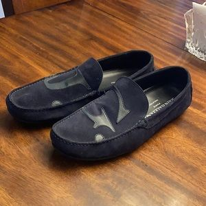 John Galliano suede Drivers  loafer shoes .